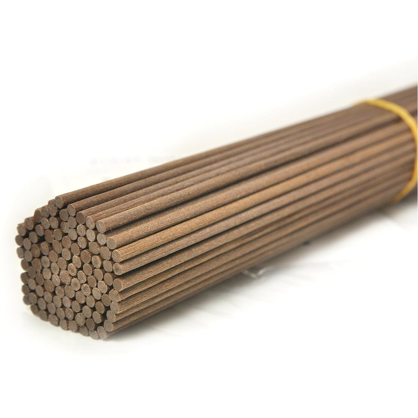 仕立て屋擬人化木100本入アロマファイバーディフューザー交換用スティック(20cm*3mm,褐色)