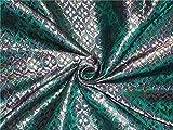 Brokat-Stoff in Grün, Blau, Beige
