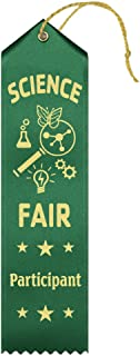 Science Fair Participant Award Ribbons – 25 Count Value Bundle – Includes Event Card and String – Made in America