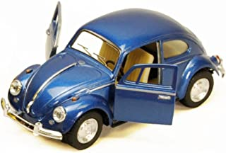 1967 Volkswagen Classic Beetle, Blue - Kinsmart 5057D - 1/32 scale Diecast Model Toy Car (Brand New, but NO BOX)