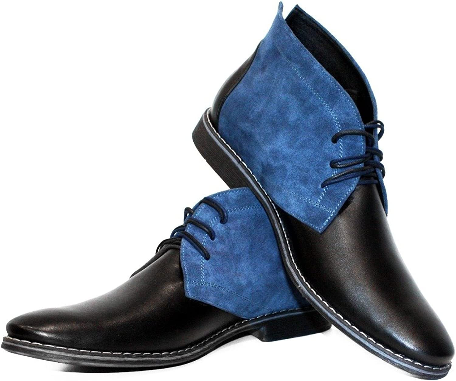 Modello Cassel - handgjord italiensk läder Mens färgstarka ankle Chukka Boots - Cowhide Smooth Leather - Lace -Up