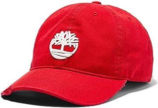 تيمبرلاند قبعة البيسبول والسناباك قطن للرجال احمر - قياس واحد