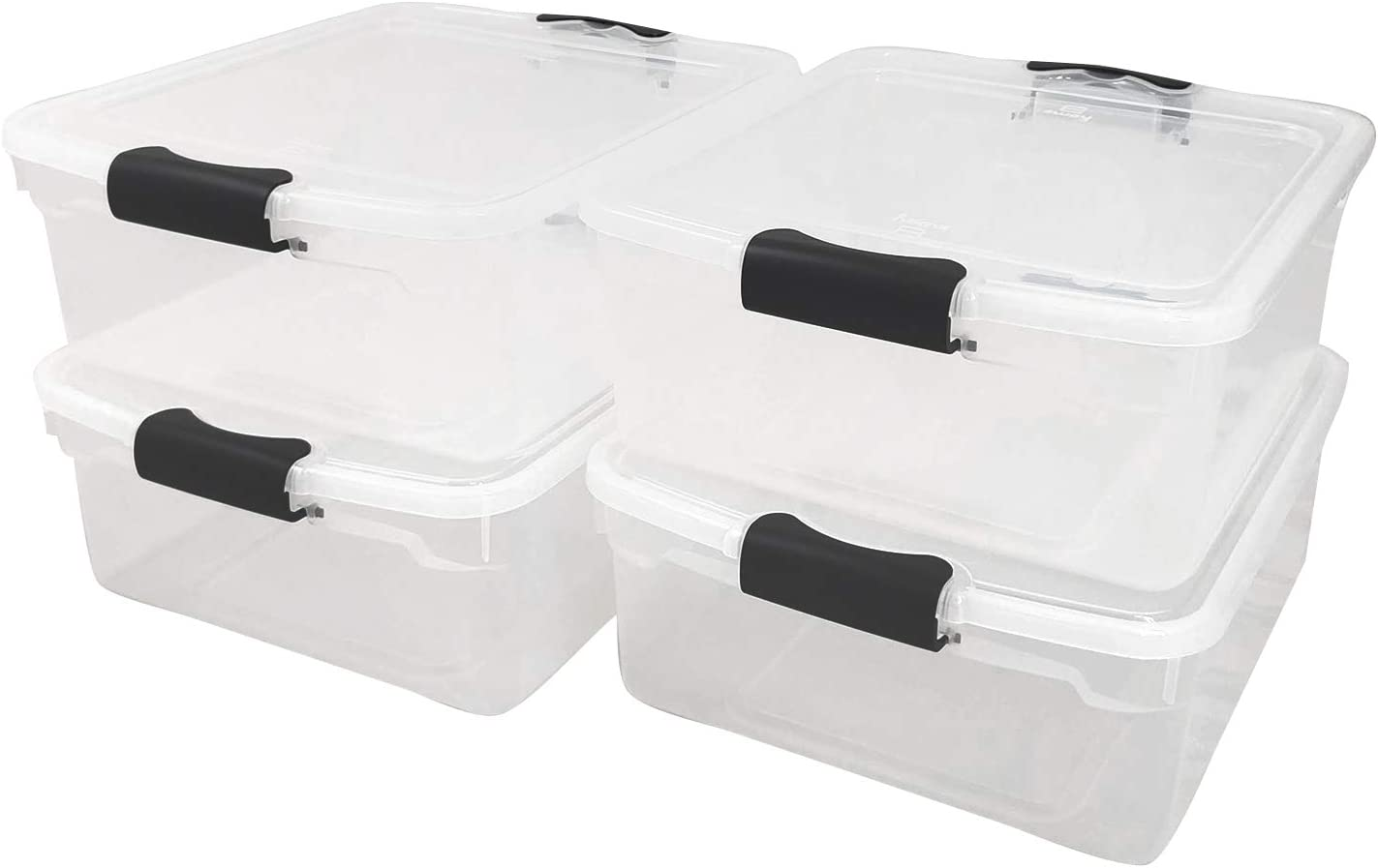 Homz 3420CLGRDC.04 メーカー再生品 Clear ◆セール特価品◆ storage container 15.5 with lid Quart