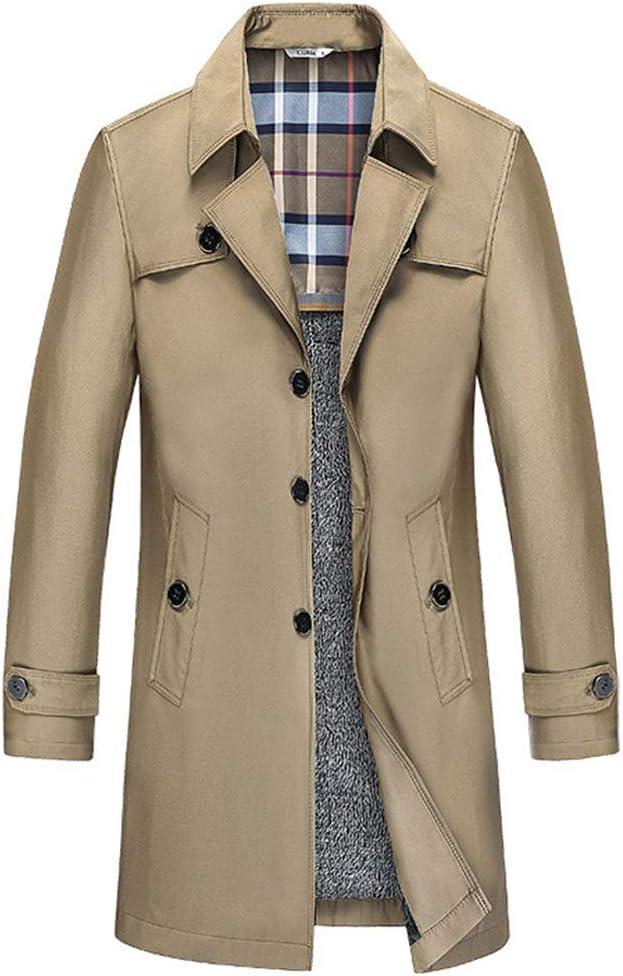 Amazon.com : YAXuan Men's Trench Coat Men Jacket Overcoat Casual Mens  Windbreakers Fashion Autumn Winter Jackets, a, XL : Garden & Outdoor