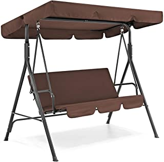Rehomy Juego de funda para columpio de patio, resistente al agua, resistente a la lluvia, cubierta superior de asiento + funda para asiento de columpio para jardín, silla de repuesto para tamaños