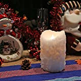Cake Shape 3D Flameless LED Pillar Candle with Remote Control, Battery Operate Candle for Christmas Decoration, 4x6