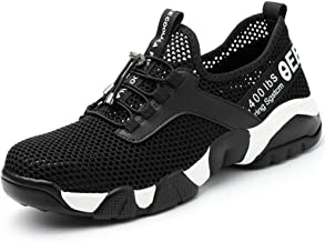 ZDJR Steel Toe Safety Shoes, Mesh Breathable Comfortable Footwear, Anti-Smashing Puncture Proof Industrial and Construction Boots for Men Women,10