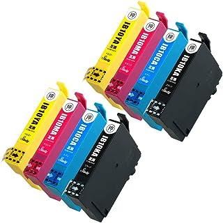 IB10-CL4A(KA/CA/MA/YA) 【4色×2セット/計8本】 エプソン用インクカートリッジ 互換インク (最新ICチップ搭載/残量検知対応/デジタル説明書付き(QR)) 対応機種:EW-M530F カードケース IB10-CL4A...