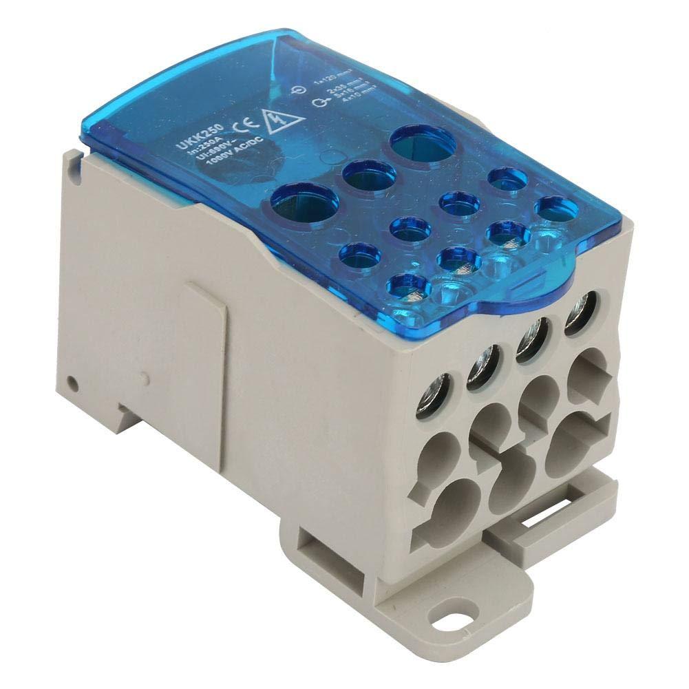 ねじれ孤児大理石UKK-250A DINレール配電ボックス 騒音の柵のターミナルブロック配電箱 普遍的な力のジャンクションボックス