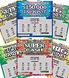 FMPLT- Fake Joke Prank Lottery Tickets Scratch Off - All Win $25,000 to $50,000 - The Ultimate Prank - Lockdown Fun(Multi-Pack A)