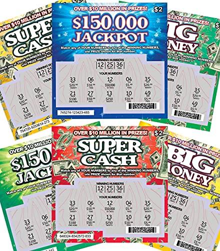 Fake Joke $25K Prank Lottery Tickets