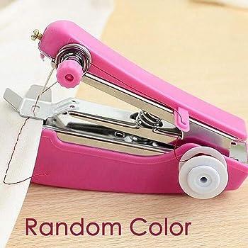 Kloius Mini máquina de Coser de Ropa Manual inalámbrica de Costura portátil Tela: Amazon.es: Ropa y accesorios