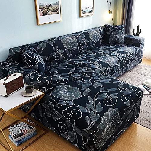 WXQY Funda de sofá en Forma de L para Sala de Estar, Funda de sofá, sofá seccional elástico, Funda de sofá antiincrustante con Todo Incluido, A18, 2 plazas
