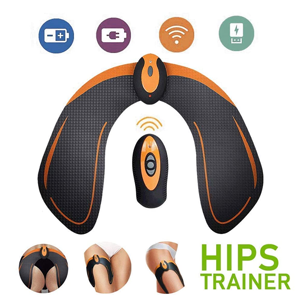 AILIDA ABS Stimulator EMS Hip Trainer Butt Toner with Intelligence System, Helps to Lift, Shape and Firm, Body Massager for Women Fitness (with Remote Control)
