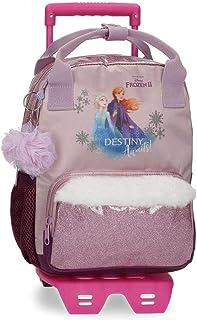 Mochila Frozen Destiny Awaits Preescolar 23 x 28 x 10 cm con Carro, Morado