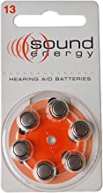 Hearing aid Batteries Size A13 (3 Pack of 6 Each) Made in UK Genuine