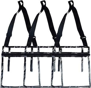 obmwang 3 Pack Clear Crossbody Purse Bag, NFL Stadium Approved Clear Bag Tote Bag with Adjustable Shoulder Strap and Inner Pocket for Work, Concert, Sport Games, Travel