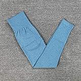 B/H Pantalones Super Suaves de Yoga Pilates,Leggings sin Costuras de Gimnasio para Mujer de Cintura Alta,Leggins Deportivos con Botines Deportivos-Navy_Blue_S,Pantalones de Yoga Leggings