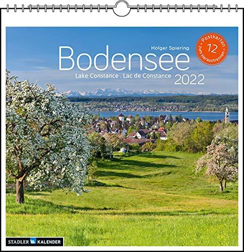 Bodensee 2022: Postkarten-Tischkalender
