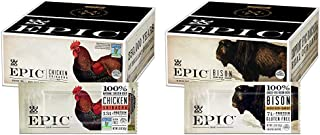 EPIC Chicken Sriracha Protein Bars, Whole 30, Keto Friendly, 12Ct Box 1.5oz bars & Cranberry Bars, Grass-Fed, Paleo Friend...