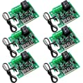 6 Pieces W1209 Digital Thermostat 12V DC W1209 Digital Temperature Controller Boards -50 - 110°C Electronic Temperature Control Switch Module with Waterproof NTC Probe and 10A One-channel Relay