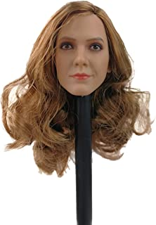 """Phicen 1/6 Scale Female Head Sculpt with Brown Hair for 12"""" Female Body"""