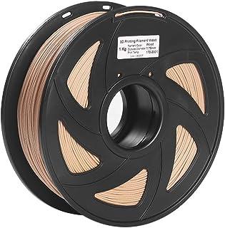 Explopur Wood Filament,3D Printer Filament Wood + PLA 1.75mm 1kg Spool Dimensional Accuracy +/- 0.02mm