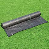 LITA Weed Barrier Control Fabric Ground Cover Membrane Garden Landscape Driveway Weed Block Nonwoven Heavy Duty 125gsm Black (5FT x 300FT)