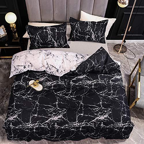 Wenhu Bed Linens Marble Reactive Printed Duvet Cover Set for Home Housse De Couette Bedding Set Queen Bedclothes,AU King 3pcs