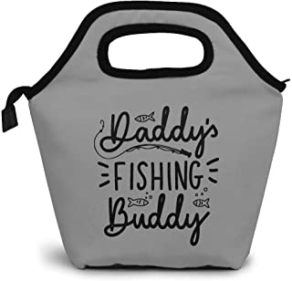 Daddy's Fishing Buddy Insulated Lunch Bag Cooler Tote Bag Lunch Tote Thick Reusable Insulated Thermal