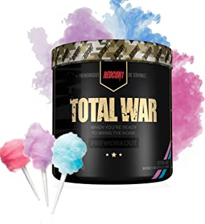 RedCon1 Total War (Newly Formulated) | Pre Workout Energy Powder, Caffeine, Citrulline Malate, Beta-Alanine, Agmatine, Taurine, Caffeine, Nitric Oxide | 30 Serving (Cotton Candy)