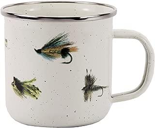 Enamelware - Fishing Fly Pattern - 12 Ounce Mug