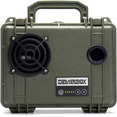 DemerBox: Waterproof, Portable, and Rugged Outdoor Bluetooth Speakers. Loud Sound, 40+ hr Battery Life, Dry Box + USB Charging, Multi-Pairing Party Mode. Built to Last + Fully Serviceable (Green DB1)