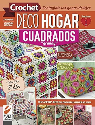 """Crochet DecoHogar. Cuadrados """"Granny"""" 1: Tentaciones deco que contagian la alegría del color (Spanish Edition)"""