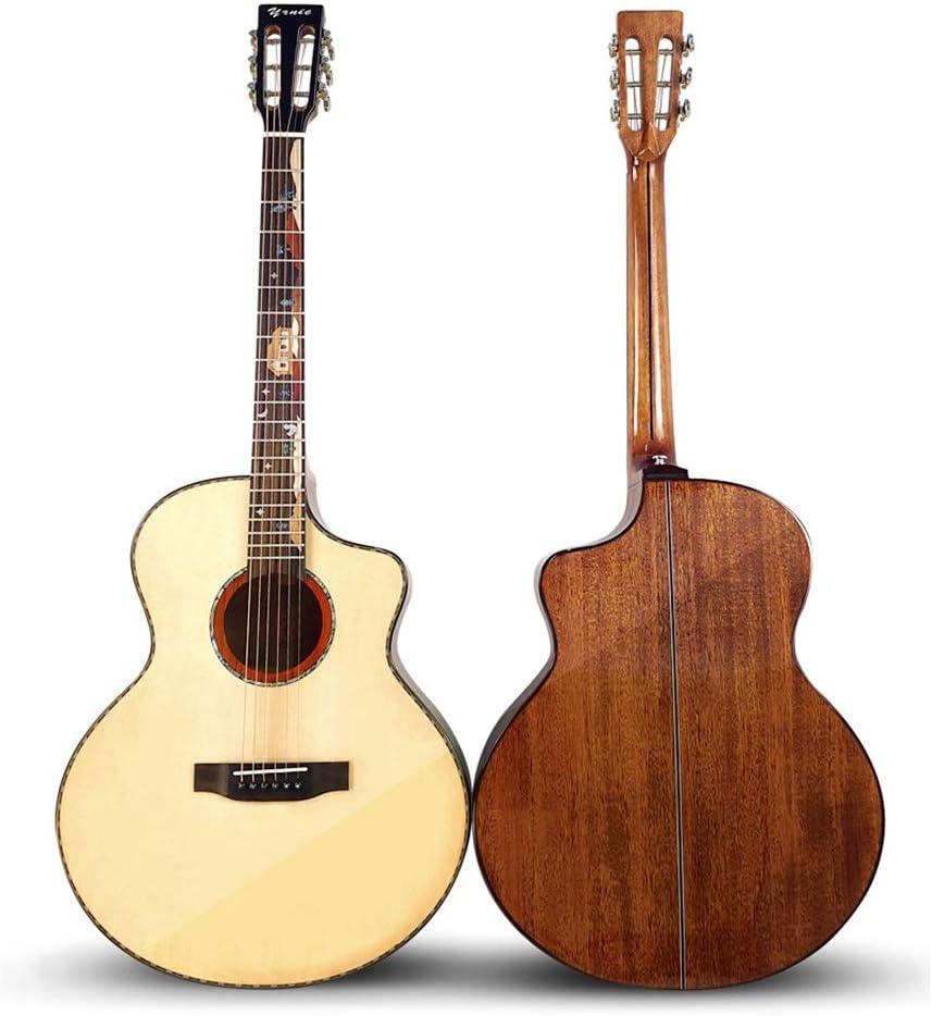 JOMSK Guitarras acusticas De Gama Alta clásico Cabeza 41 Pulgadas de Chapa de Madera de Caoba Spruce Folk luz Madera Guitarra Clásica Guitarra (Color : Natural, Size : 41 Inches)
