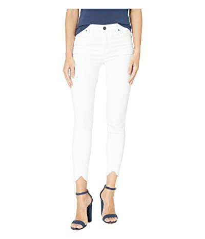 KUT from the Kloth Connie Ankle Skinny High-Rise w/ Step in Optic White (Optic White) Women