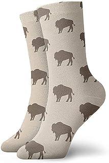 iuitt7rtree Calcetines Neutro Buffalo Bison Herd Cojín de absorción de humedad Colorido Divertido No Show Calcetines bajos...