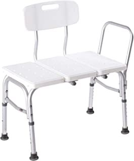 Carex Shower Bench Seat for Seniors, Elderly, Disabled - Tub Transfer Bench with Height Adjustable Legs - Shower Bench Converts to Right or Left Hand Entry