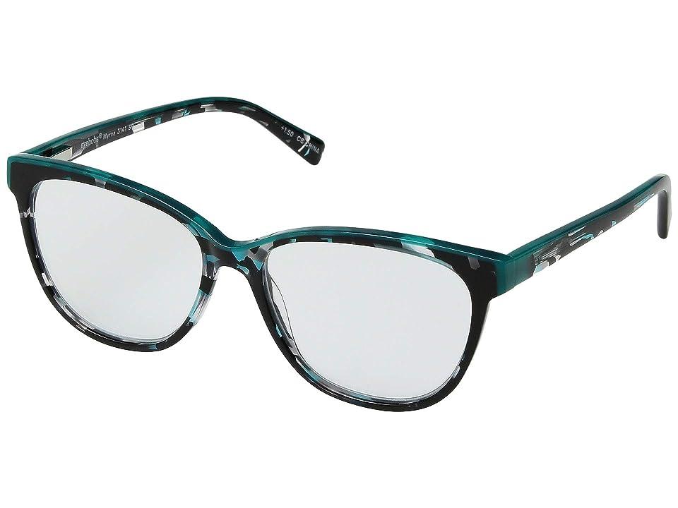 eyebobs Myrna (Black/Purple Tortoise/Pink Top 1) Reading Glasses Sunglasses