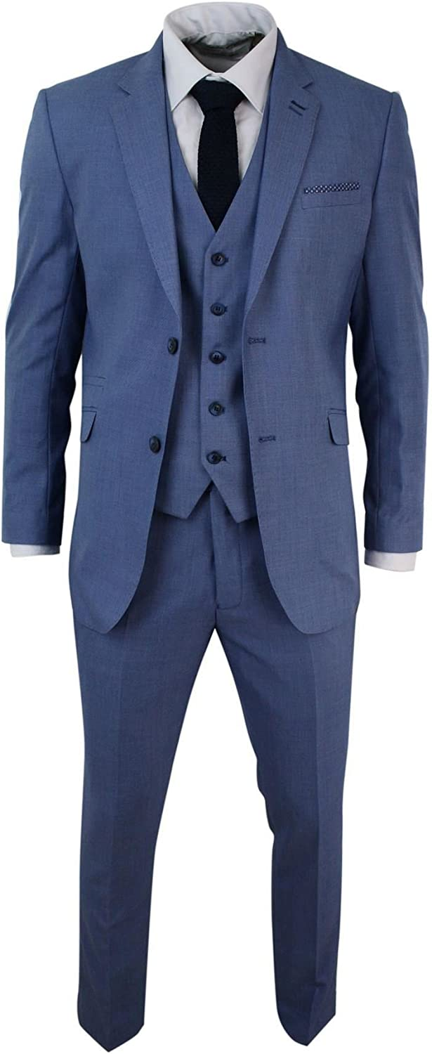 Mens Max 40% OFF Light Max 57% OFF Sky Blue 3 Piece Tail Suit Wedding Party Formal Smart