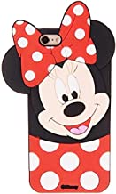 Cases for iPhone 5S 5 5C SE Case, Minnie 3D Cartoon Animal Soft Slim Silicone Bumper Protective Cover Shockproof Case, Kids Girls Teens Cute Gifts Cases, Thick Funny Protector Skin for iPhone SE/5S/5C
