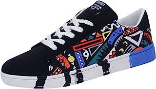 Kenmeko Sneakers Moda Uomo Casual Stringate Colorfor Scarpe Sportive in Tela Scarpe Graffiti