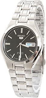 Seiko 5 Men's Black Dial Stainless Steel Automatic Watch - SNKG13J1