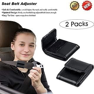 Car Seat Belt Adjuster for Kids & Adults, Comfortable and Safe Car Belt Adjuster Black,2 Packs