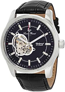 Lucien Piccard Men's LP-40006M-01 Morgana Analog Display Mechanical Hand Wind Black Watch