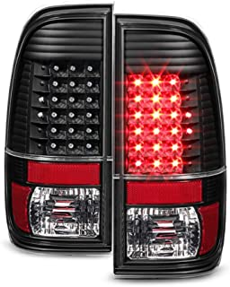ACANII - For Black 2008-2016 Ford F250 F350 F450 SuperDuty LED Tail Lights Brake Lamps