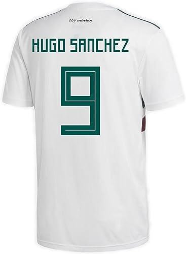 Adidas Hugo Sanchez   9Mexique Away Maillot de Football Coupe du Monde de Football Russie 2018