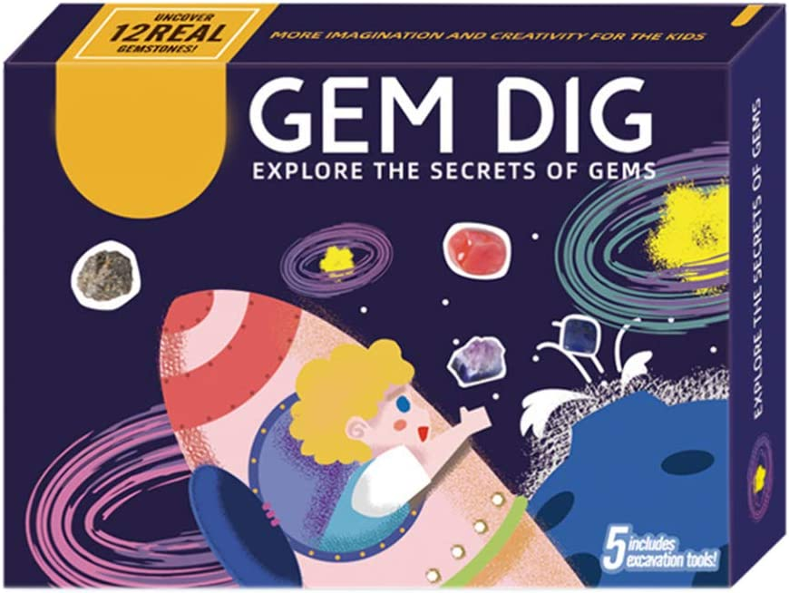 TOYANDONA 1set Kids Gem Dig New products, world's highest quality popular! Choice Up Sci Kit Toy Mining Stem Discovery