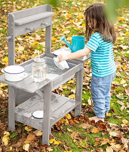 roba Matschküche Midi – Kinder-Outdoor-Gartenküche aus wetterfestem Massivholz - 4