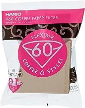 Filtro de Papel Natural para Coador de Café V60, Tamanho 01, Pacote Com 100 Hario 0 Marrom